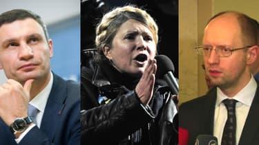 Vitali Klitschko, Ioulia Timochenko et Arseni Iatseniouk sont les trois figures de l'opposition.