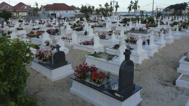 Le cimetière de Lorient à Saint-Barthélemy le 8 décembre 2017