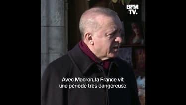 Erdogan souhaite à la France de «se débarrasser» de Macron «le plus tôt possible»
