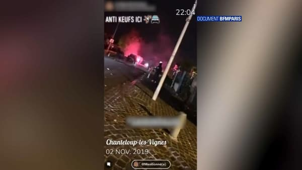 """Des vidéos tournées à Chanteloup-les-Vignes ont relayé des messages """"anti-keufs"""""""