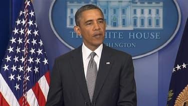"""Le président Barack Obama s'est exprimé au lendemain des explosions de Boston, qu'il a qualifiées d'""""actes de terrorisme""""."""