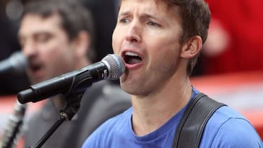 James Blunt en live pour l'émission Today de NBC, en septembre 2013