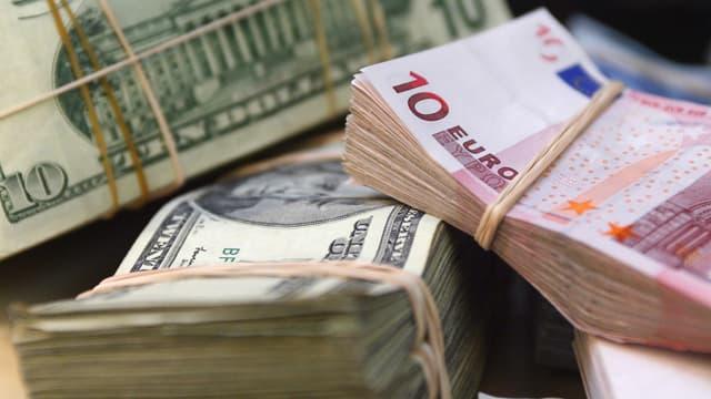 La femme transportait 600.000 euros, 20.000 dollars américains et 14.000 francs suisses.