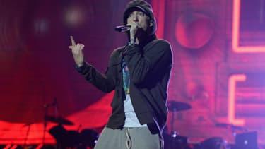 Eminem au Festival Lollapalooza à Chicago en 2014