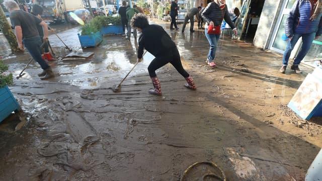 Inondations à Mandelieu-La-Napoule