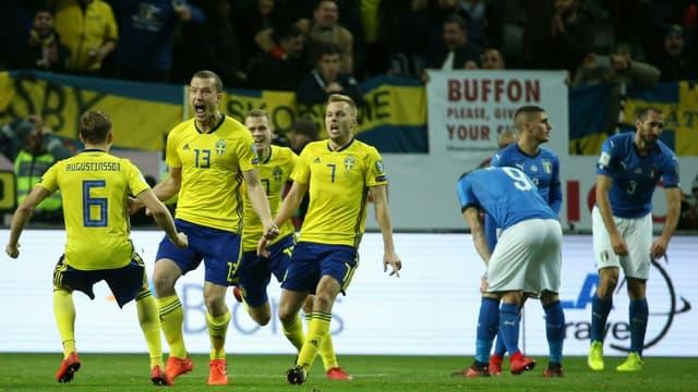 Johansson a permis à la Suède d'ouvrir le score.