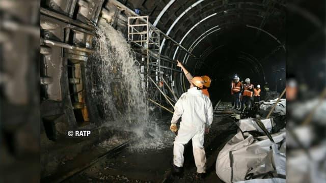 La fuite d'eau a nécessité trois jours d'intervention dans les tunnels du RER A.