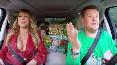 Mariah Carey et James Corden dans le Carpool karaoke