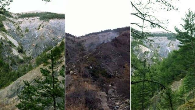 L'avion s'est écrasé dans les Alpes-de-Hautes-Provences, dans le massif des Trois-Evêchés
