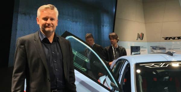 """""""Nous nous sommes lâchés!"""", nous a expliqué sur le Mondial Raphaël Brétécher, responsable du design pour Hyundai Europe."""