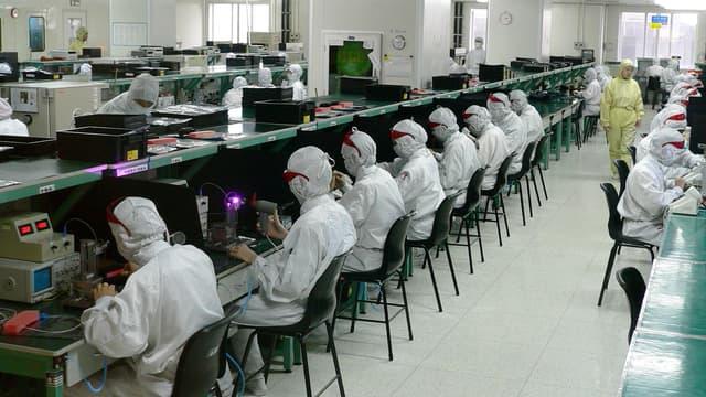 Foxconn a un bénéfice de 106,70 milliards de dollars de Taïwan (2,52 milliards d'euros).