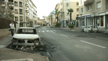 Vue du quartier de La Gabelle après les violences.