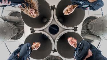 Les quatre premiers touristes de SpaceX.