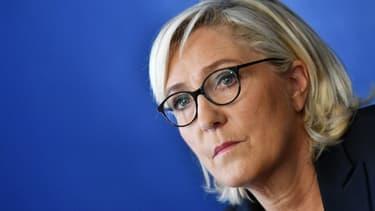 Marine Le Pen le 8 octobre dernier à Rome. - Alberto PIZZOLI / AFP