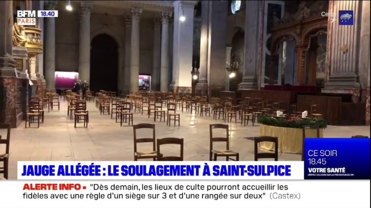 Jauge allégée dans les lieux de culte: un soulagement pour les fidèles de l'église Saint-Sulpice