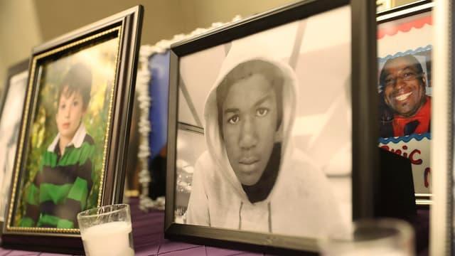 Une photo de Trayvon Martin (au centre), abattu par George Zimmerman en 2012.