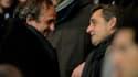 Michel Platini et Nicolas Sarkozy en 2015