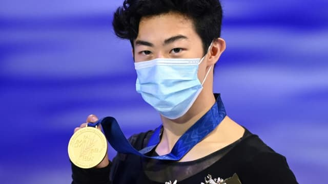 L'Américain Nathan Chen sacré champion du monde de patinage artistique, à Stockholm, le 27 mars 2021