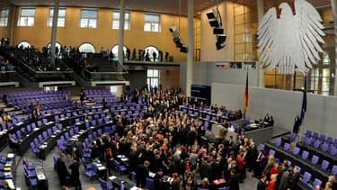 Le Bundestag allemand lors d'un précédent vote en 2011