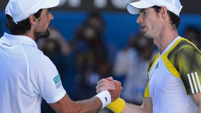Jérémy Chardy n'a pas fait le poids face à Andy Murray