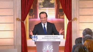 François Hollande face à la presse, ce jeudi 16 mai.