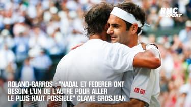 """Roland-Garros : """"Nadal et Federer ont besoin l'un de l'autre pour aller le plus haut possible"""" clame Grosjean"""