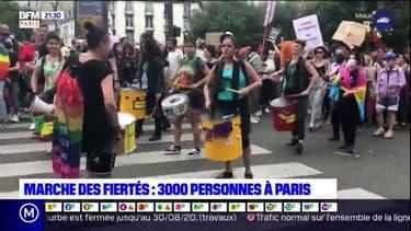 Marche des fiertés: 3000 personnes à Paris