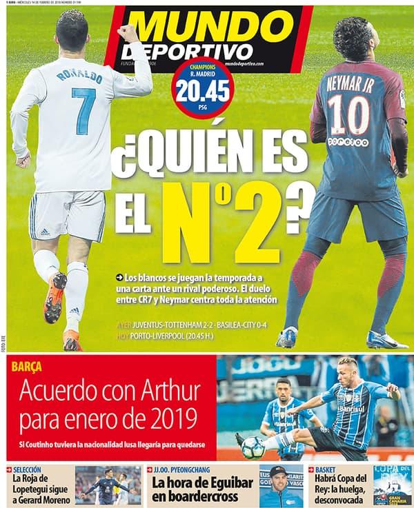 La Une de Mundo Deportivo ce 14 février