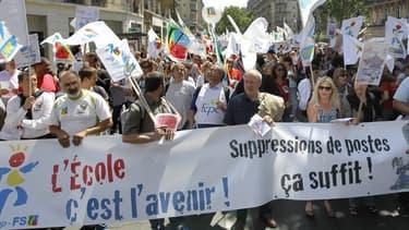 Les enseignants sont en grève ce lundi contre les suppressions de postes prévues. Photo d'illustration