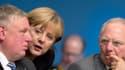 Berlin a adopté une ligne particulièrement dure vis-à-vis de la Grèce (ici la chancelière Angela Merkel, le ministre des Finances Wolfgang Schauble et Karl-Josef Laumann, un cadre de la CDU).