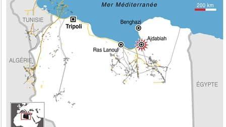 VIOLENTS COMBATS À AJDABIAH EN LIBYE