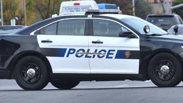 Une voiture de police aux États-Unis - Image d'illustration