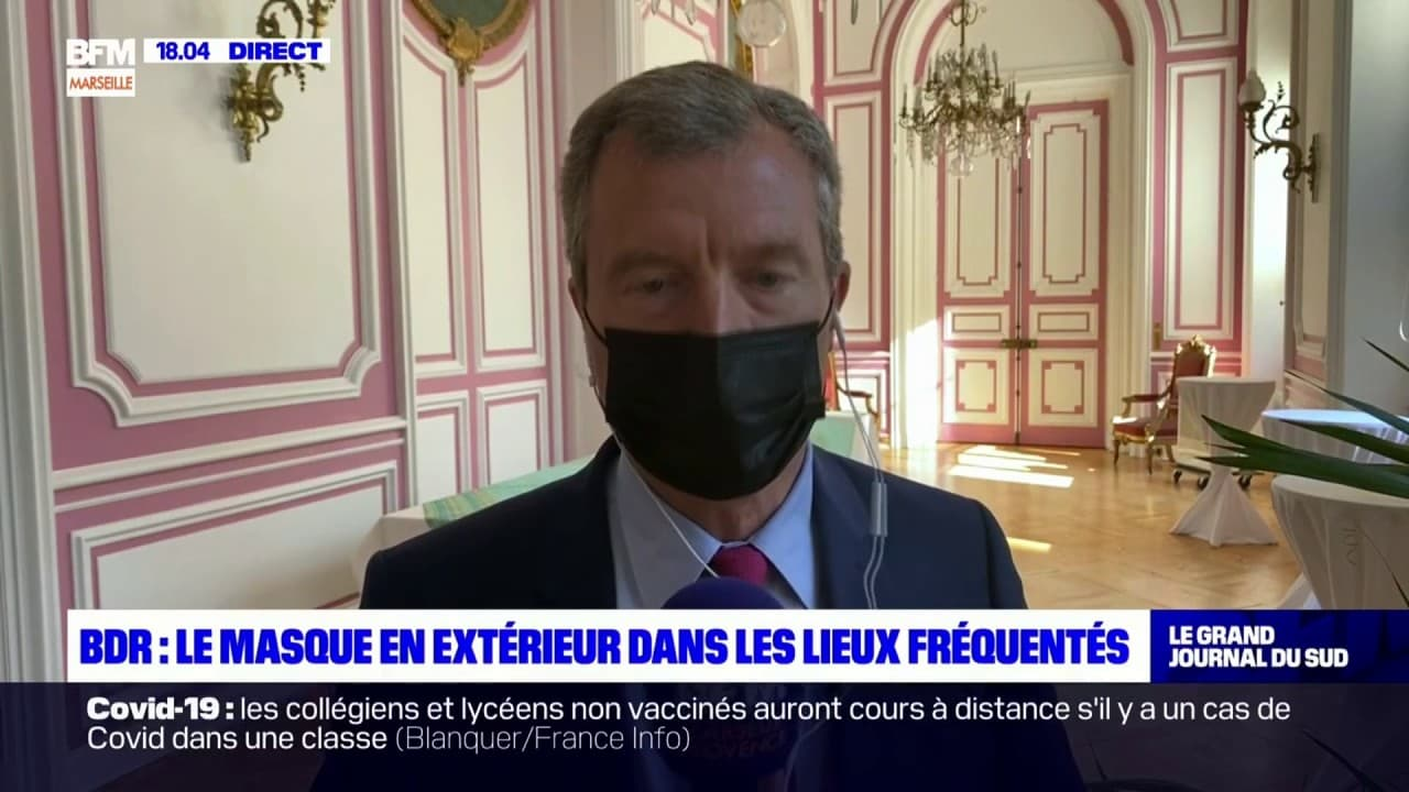 """Bouches-du-Rhône: le masque en extérieur lié """"à la très forte fréquentation"""" du département"""