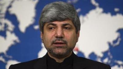 Le porte-parole du ministère iranien des Affaires étrangères, Ramin Mehmanparast. L'Iran a invité des ambassadeurs auprès de l'Agence internationale de l'Energie atomique (AIEA), dont des diplomates du groupe P5+1, à visiter ses installations nucléaires.