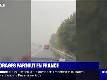 Les images des fortes intempéries qui balaient la France ce mercredi