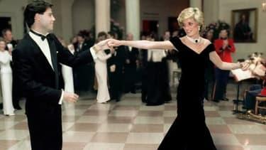 John Travolta et Lady Diana en 1985