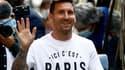 Lionel Messi lors de sa première journée parisienne, le 10 août 2021