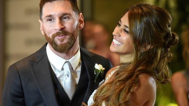 Lionel et Antonella Messi
