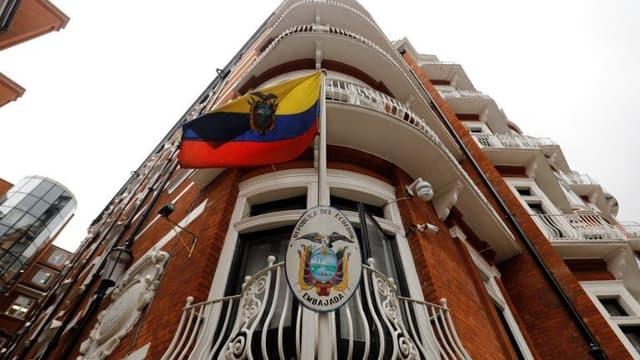 L'ambassade équatorienne à Londres, dans laquelle Julian Assange est réfugié depuis plus de 5 ans.