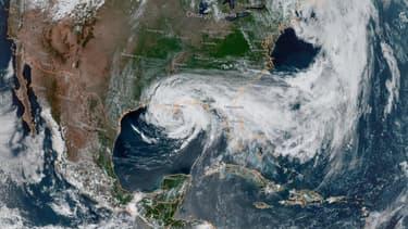 Images satellites de la tempête Cristobal s'approchant des côtes de la Louisiane ce dimanche.