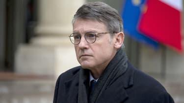 Vincent Peillon dans la cour de l'Elysée, en janvier 2014.