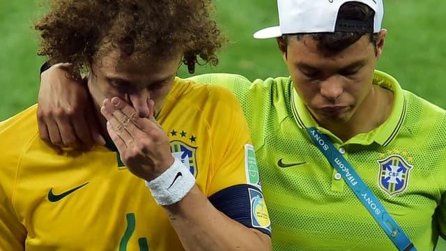 David Luiz et Thiago Silva, les défenseurs du Brésil et du PSG