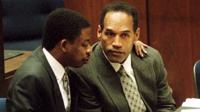 L'ancien sportif O.J. Simpson lors de son procès pour double meurtre à Los Angeles, le 3 février 1995.