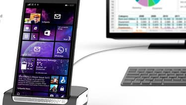 HP revient sur le marché des smartphones avec un modèle sous Windows 10 visant le marché professionnel.