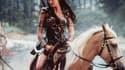 """Lucy Lawless dans le rôle de """"Xena la guerrière""""."""
