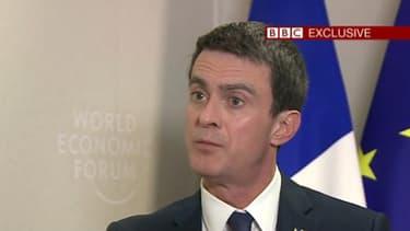 Manuel Valls sur la BBC, le 22 janvier 2016.