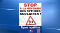 L'UMP a lancé une campagne de communication contre la réforme des rythmes scolaires de Vincent Peillon.