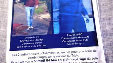 Une des affiches collées sur les murs de Villeneuve-d'Ascq, dans le Nord. (image floutée par RMC).