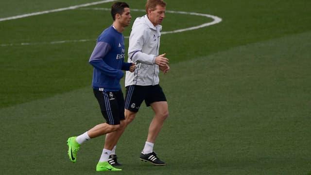 Cristiano Ronaldo ce vendredi à l'entraînement