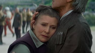 """Carrie Fisher avait repris son rôle de Leia dans """"Star Wars VII: le Réveil de la Force"""" en 2015"""
